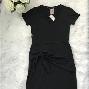 NWT Dolan Anthropologie Black Knit Wrap Dress Sz S